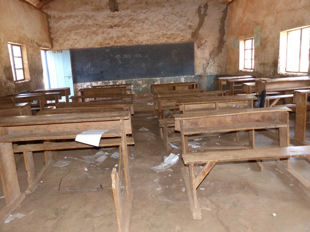 Klassenraum Ngando Primry School