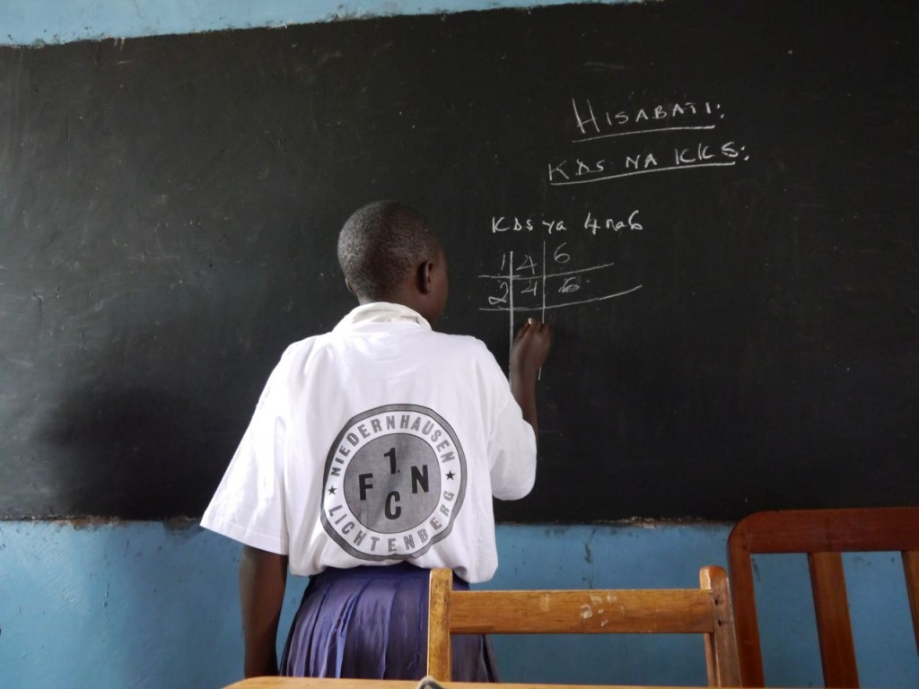 Mathe im neuen Klassenraum